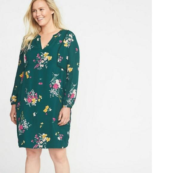 9ef68186fc2 Old navy Georgette floral swing dress 4x